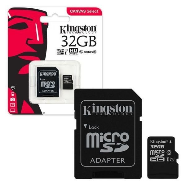 Kingston Canvas Select Micro SD 32GB SDCS/32GB with Adapter