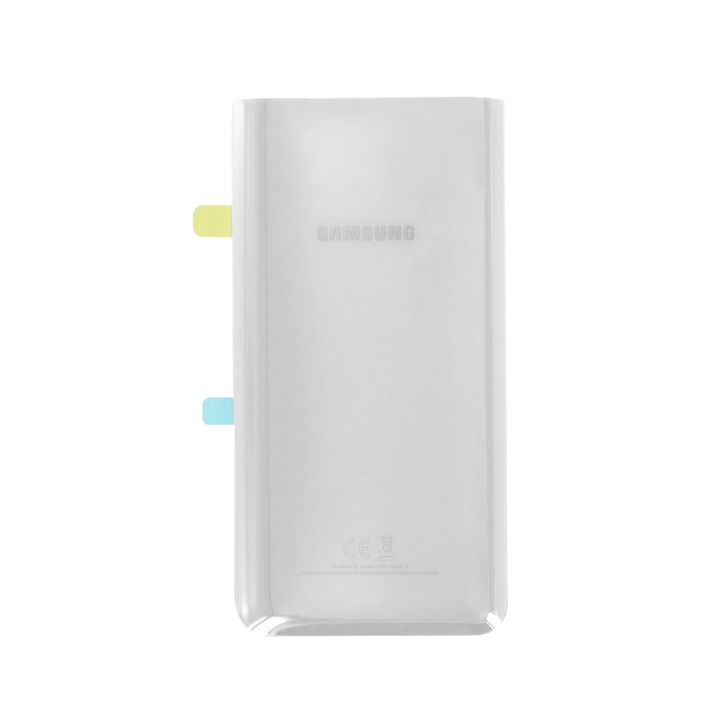 Original Samsung Galaxy A80 A805F Battery Cover Silver Ασημί (GH82-20055B)