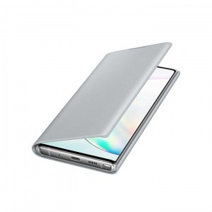 Samsung Galaxy Note 10 LED View Cover EF-NN970PS silver OPEN