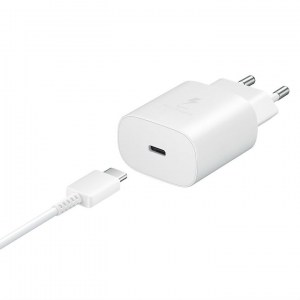 Samsung PD 25W Wall Charger EP-TA800XW white side with cable 2